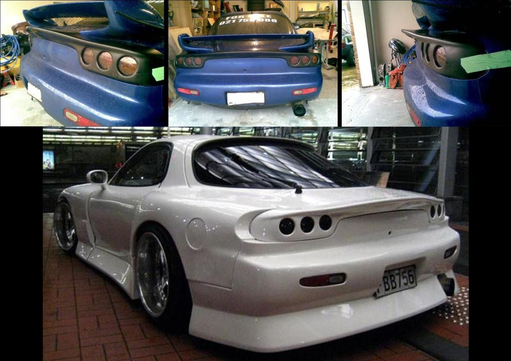RE Style RX7 FD3S Rear light cover