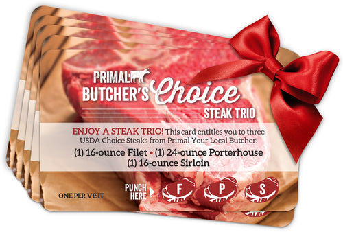 Butcher's Choice Steak Gift Card (6 pack)
