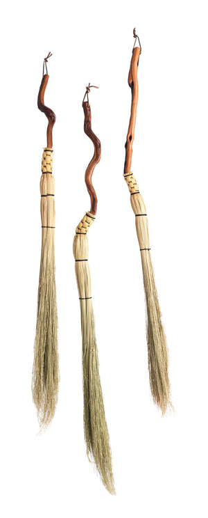 Manzanita handle cobwebber brooms