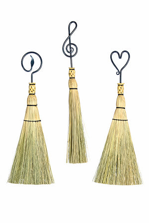 Kootenay Forge iron whisk or fireplace brooms