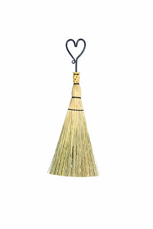 Granville Island Broom Co Ironwork whisk broom - flat style with heart handle