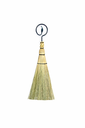 Granville Island Broom Co Ironwork whisk broom - flat style with leaf handle