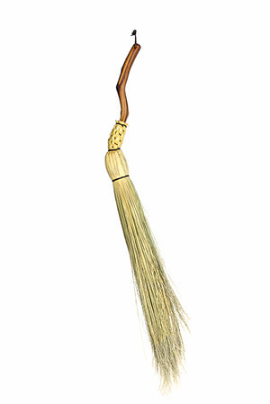Granville Island Broom Co Manzanita handle traditional round untrimmed fireplace broom