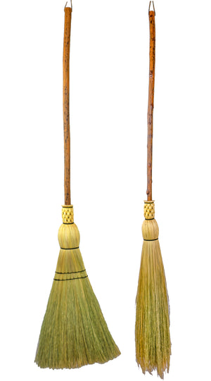 Granville Island Broom Co Hickory handle flat and round floor brooms