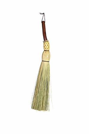 Granville Island Broom Co manzanita handle round trimmed free standing fireplace broom