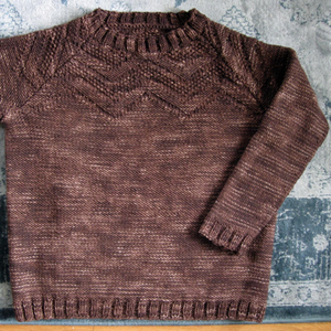 Mountain Top Raglan by Therese Chynoweth