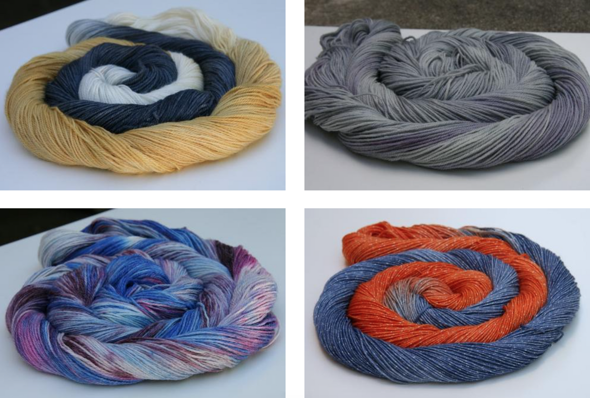 FOUR new fingering-weight yarns