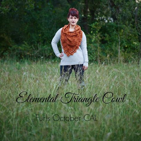 Elemental Triangle Cowl - another Furls CAL & Giveaway