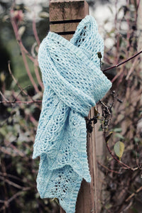 Clematis Scarf by Christina Wilkins