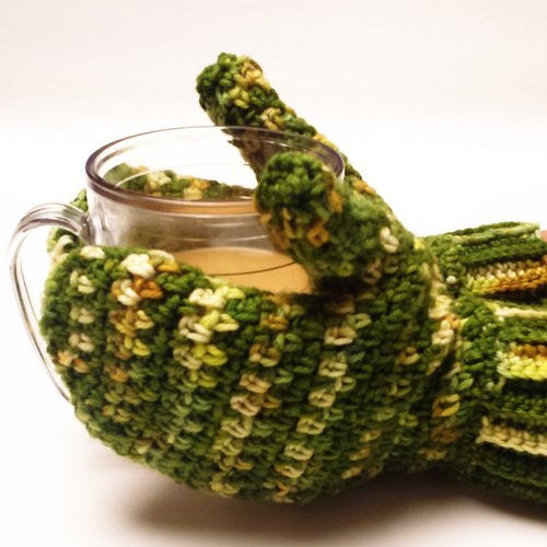 Fresh Greens Mittens by Karen McKenna
