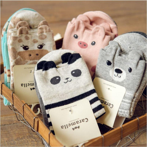 Apparel - 2-Pack Of Japanese Animal Ankle Socks