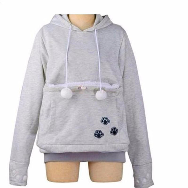 Apparel - Cat Hoodie With Cuddle Pouch