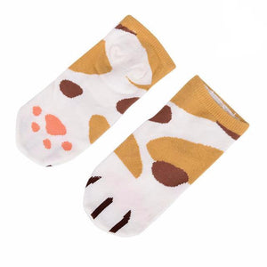 Apparel - Cotton Cat Socks With Toe Beans