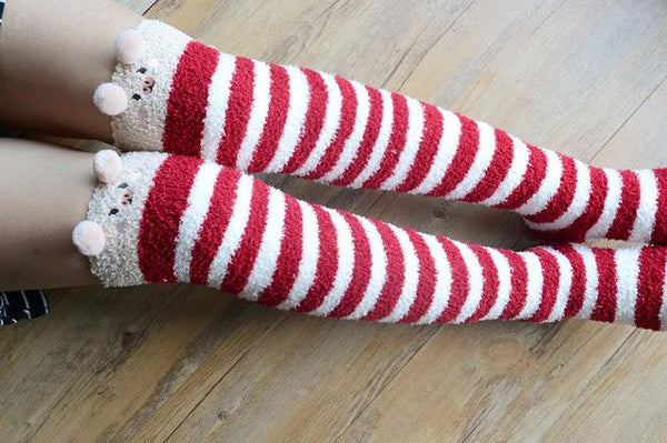 Apparel - Fuzzy Animal Stockings