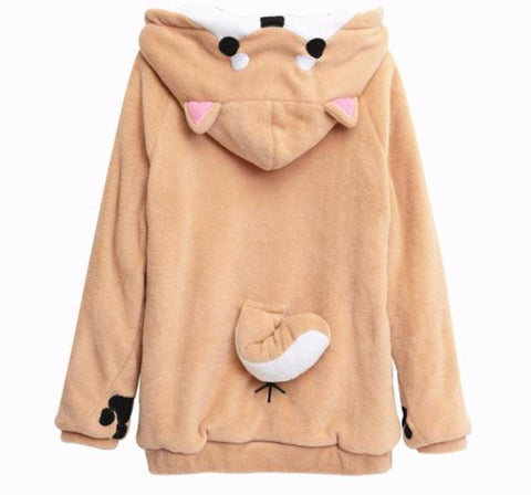 Apparel - Shiba Inu Hoodie With Paws And Tail
