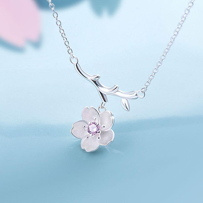 Jewelry - Sakura Cherry Blossom Pendant Necklace