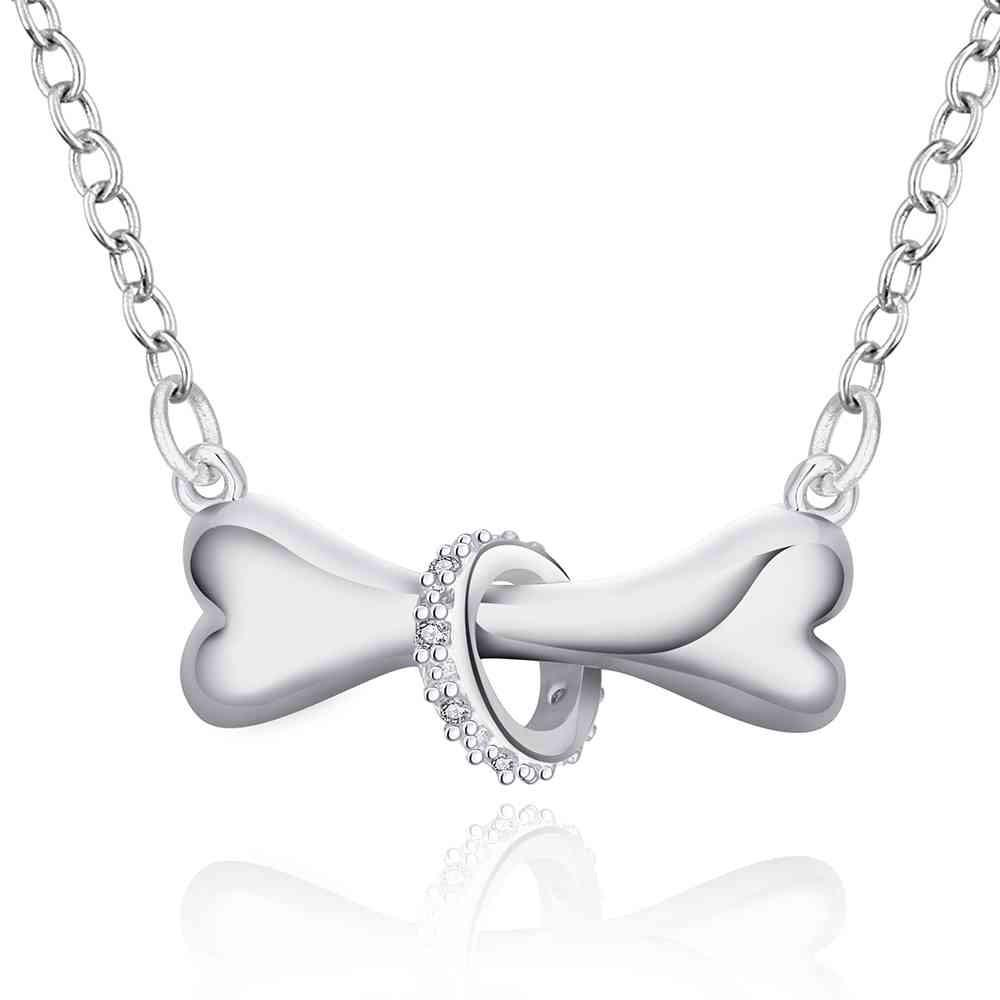 Jewelry - Silver Plated Dog Bone Necklace