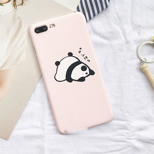 Frosted Pink Panda iPhone Case