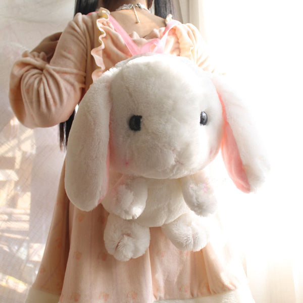 Plush Rabbit Backpack - 20""