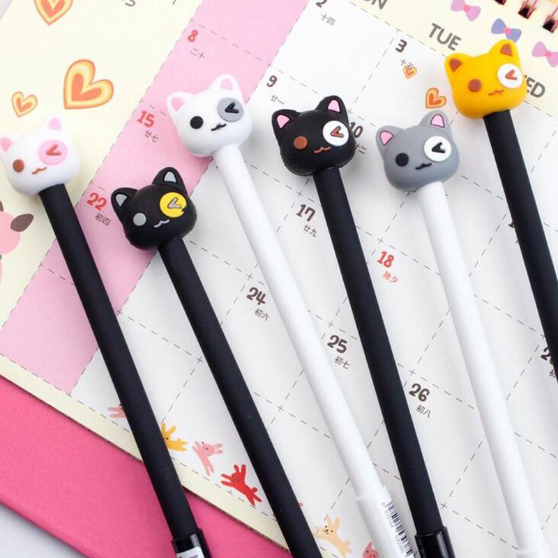 Stationery - Cat Gel Pen - 2 Count