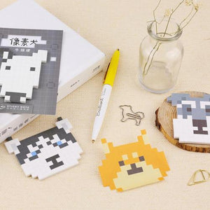 Stationery - Pixelized Dog Sticky Notes
