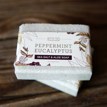 Peppermint Eucalyptus Sea Salt - Sea Salt & Aloe Soap (100% Natural)
