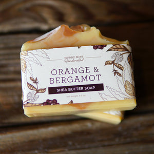 Orange & Bergamot - Shea Butter & Goat Milk Soap (100% Natural)