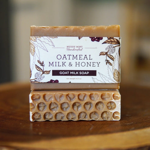 Oatmeal Milk and Honey - Goat Milk Soap (95% Natural)