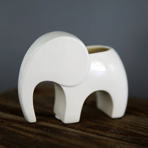 White Elephant Planter - Mini Ceramic Planter