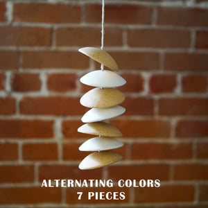 Hanging Ceramic Chimes - Stoneware Chimes on Hemp Twine