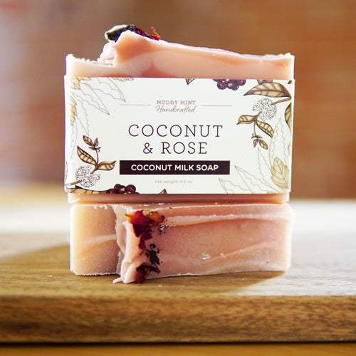 Coconut & Rose - Coconut Milk Soap (100% Natural)