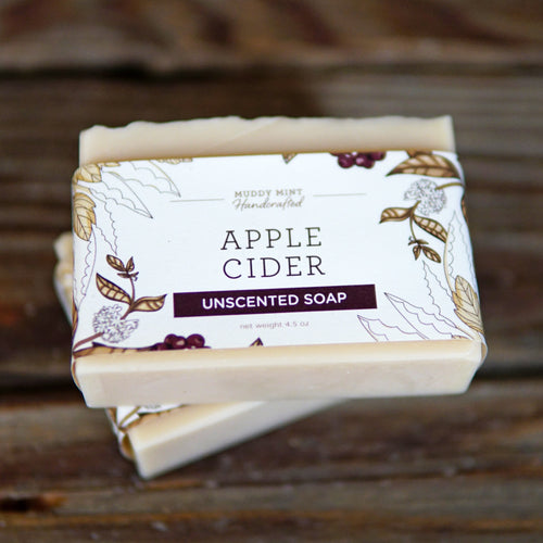 Apple Cider - Unscented Soap (100% Natural)