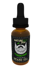 Beard Oil - Yukon Pine Scent - (1 oz) - Moisturize Skin, Stimulate Growth, Make Hair Softer, Smooth, No Left over Residue, Eliminate Itchy Skin, Treat Split Ends