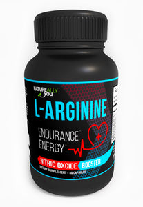 L-Arginine (60 Capsules) - Nitric Oxcide Booster * - Helps with Blood Pressure, Heart, Endurance, Energy, Kidney Function