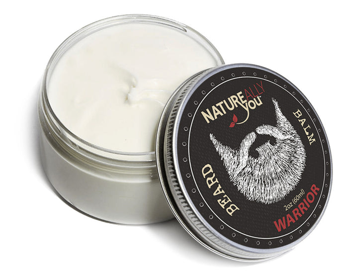 Beard Balm - WARRIOR Scent - (2 oz) - NATUREALLY YOU ©