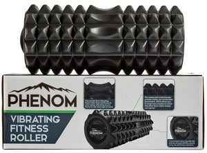Black Phenom Vibrating Foam Roller on Box