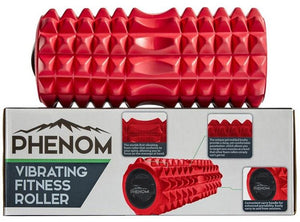 Red Phenom Vibrating Foam Roller on Box
