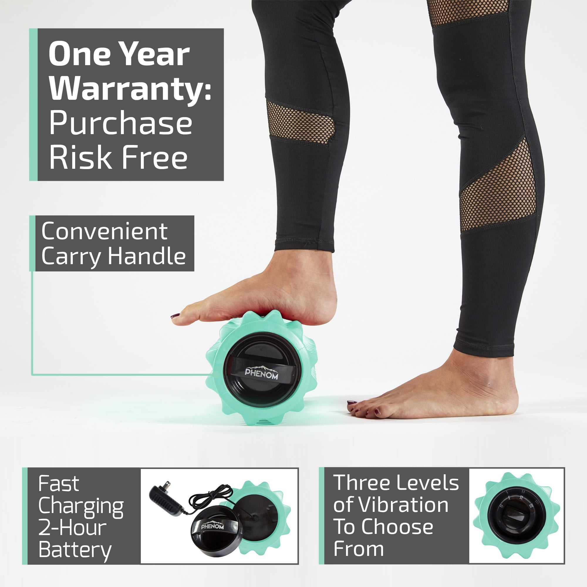Phenom 3 Speed Electric Rechargeable Vibrating Foam Roller
