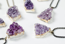 Druzy Amethyst Pendant Necklace