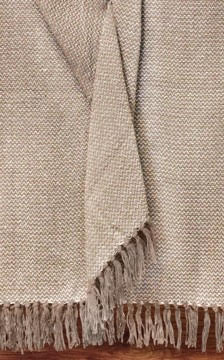 Organic Cotton Throw Mocha