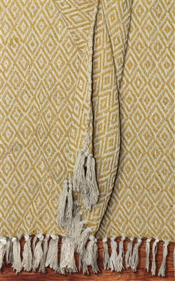 Organic Cotton Throw Mustard