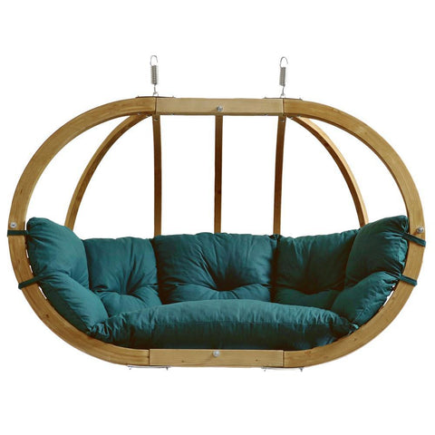 Globo Royal Double Seater Hanging Chair Green Weatherproof - By Amazonas - Cool Hammocks