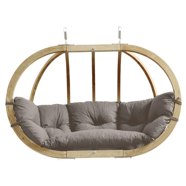 Amazonas Globo Royal Double Seater Hanging Chair Taupe - Cool Hammocks