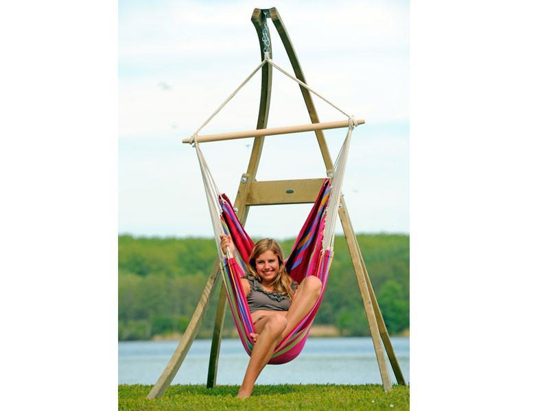 ... Atlas Wooden Hanging Chair Stand   By Amazonas   Cool Hammocks ...