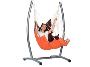 Amazonas California Terracotta Hanging Chair with Omega Metal Stand  - Cool Hammocks