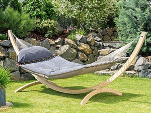 Fat Hammock with Wooden Stand  - By Amazonas - Cool Hammocks