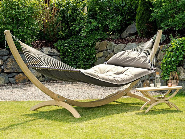 Amazonas Fat Hammock with Wooden Stand | Hammock Set  - Cool Hammocks