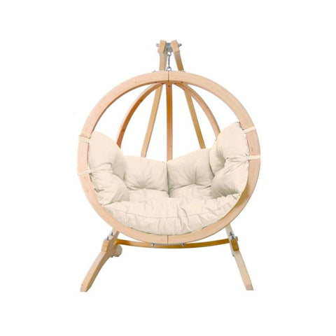 Amazonas Globo Single Seater Hanging Chair with Stand Natura - Cool Hammocks