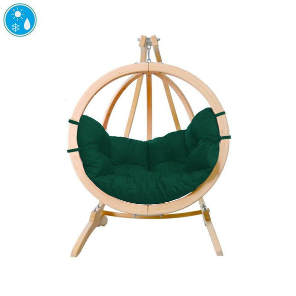 Amazonas Globo Single Seater Hanging Chair with Stand Green - Cool Hammocks