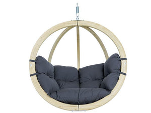 Amazonas Globo Single Seater Hanging Chair Anthracite - Cool Hammocks